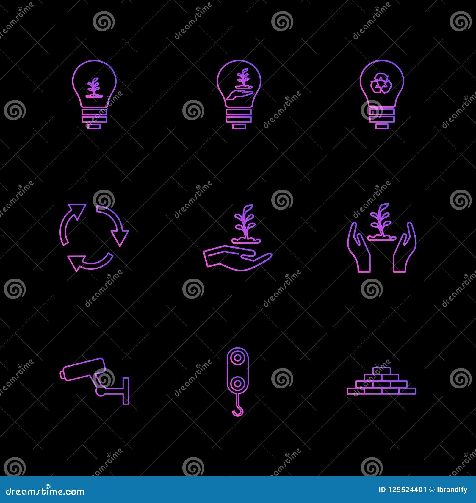 Appareil-photo, grue, briques, ampoule, écologie, économies, nature, recyc