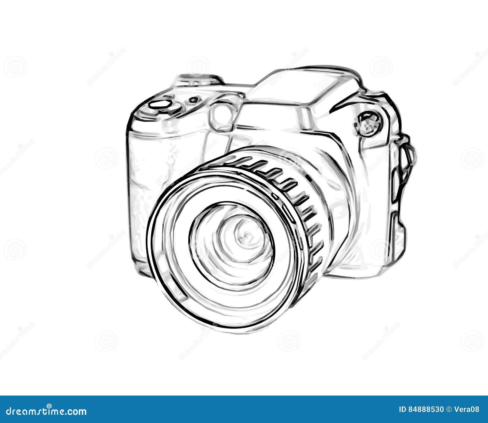 Favorit Appareil Photo Numérique De Dessin Illustration de Vecteur - Image  UA26