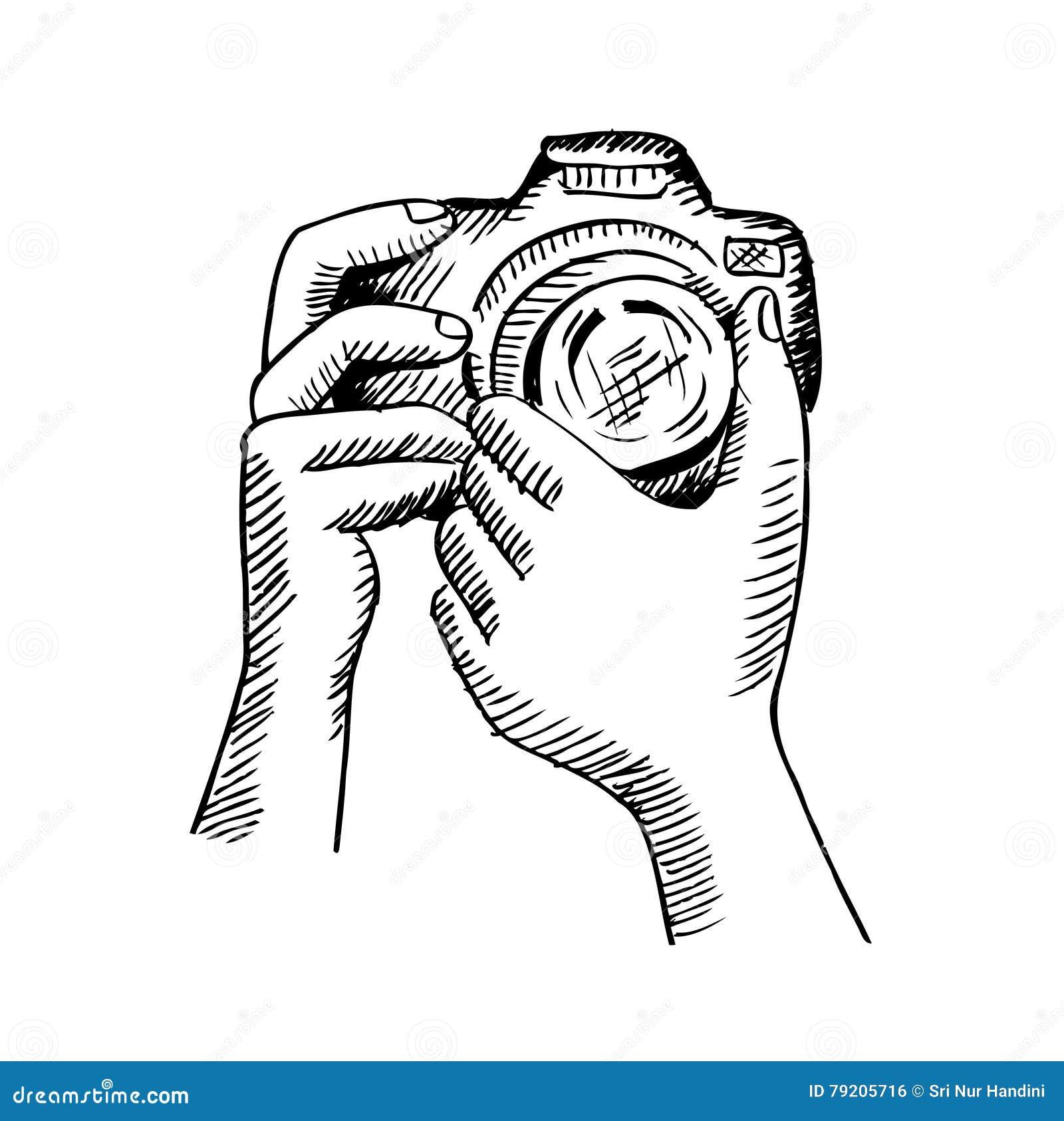appareil photo ornemental illustration de dessin de main illustration stock image 79205716. Black Bedroom Furniture Sets. Home Design Ideas