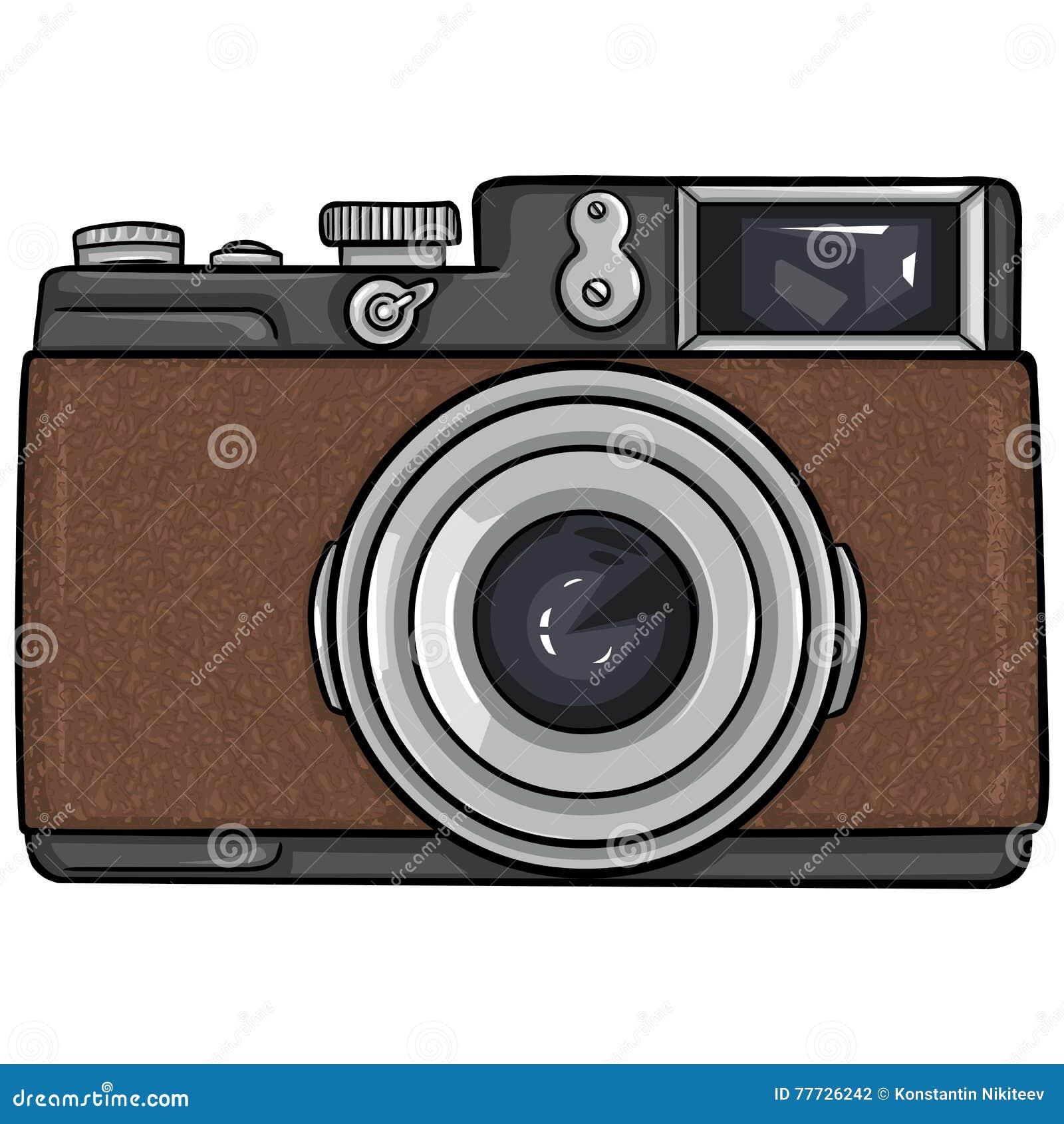 Appareil Photo Simple De Photo De Bande Dessinee De Vecteur