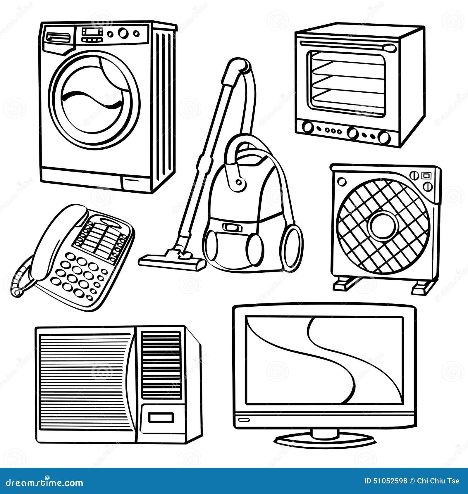 Appareils électriques dans une maison
