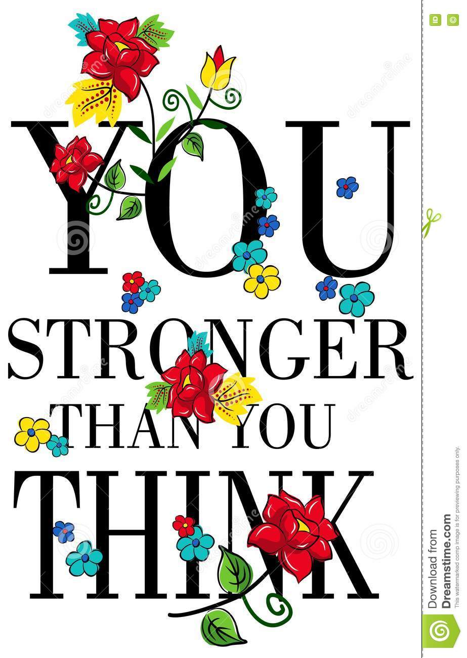 Apparel Quotes You Are Stronger Than You Think Poster With A