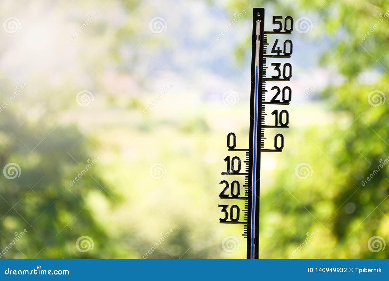 Apparence extérieure de thermomètre 36 degrés de Celsius