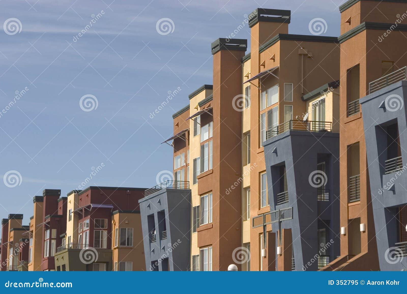 Appartamenti moderni 1 immagine stock immagine di for Foto appartamenti ristrutturati moderni