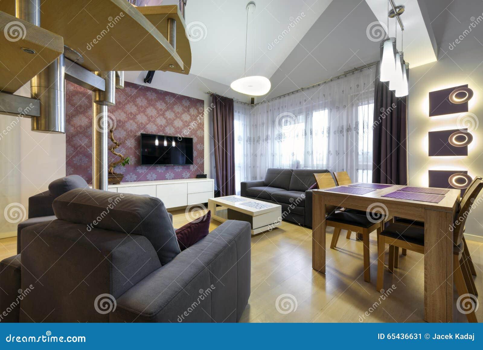 appartamento di lusso moderno di interior design immagine