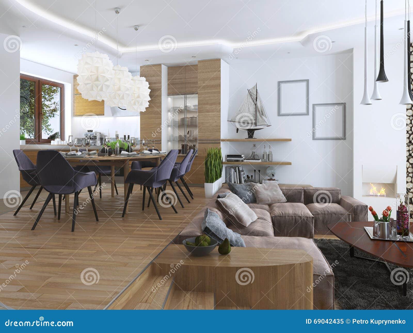 Appartamento di studio con il salone e la sala da pranzo for La sala da pranzo