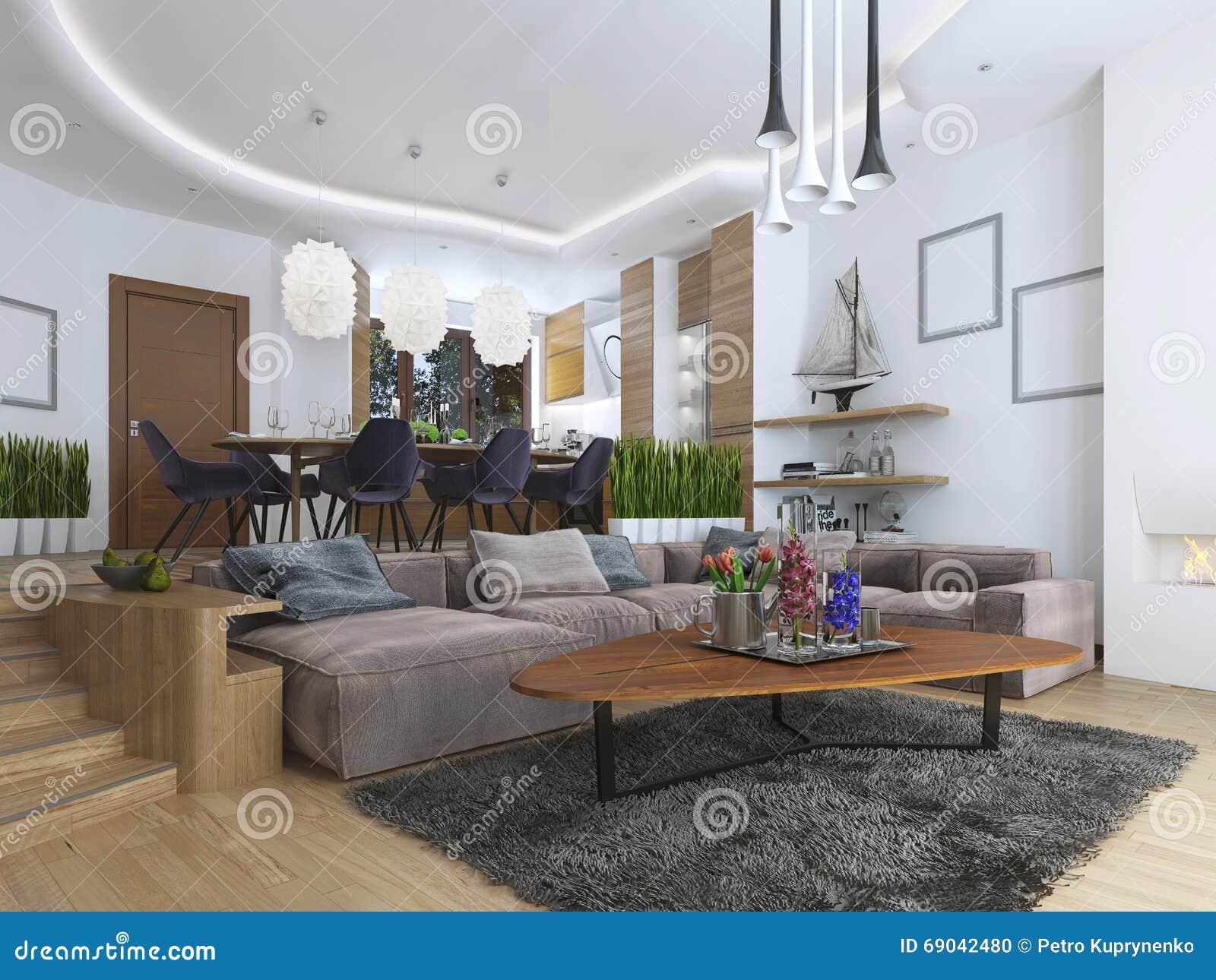 appartamento di studio con il salone e la sala da pranzo