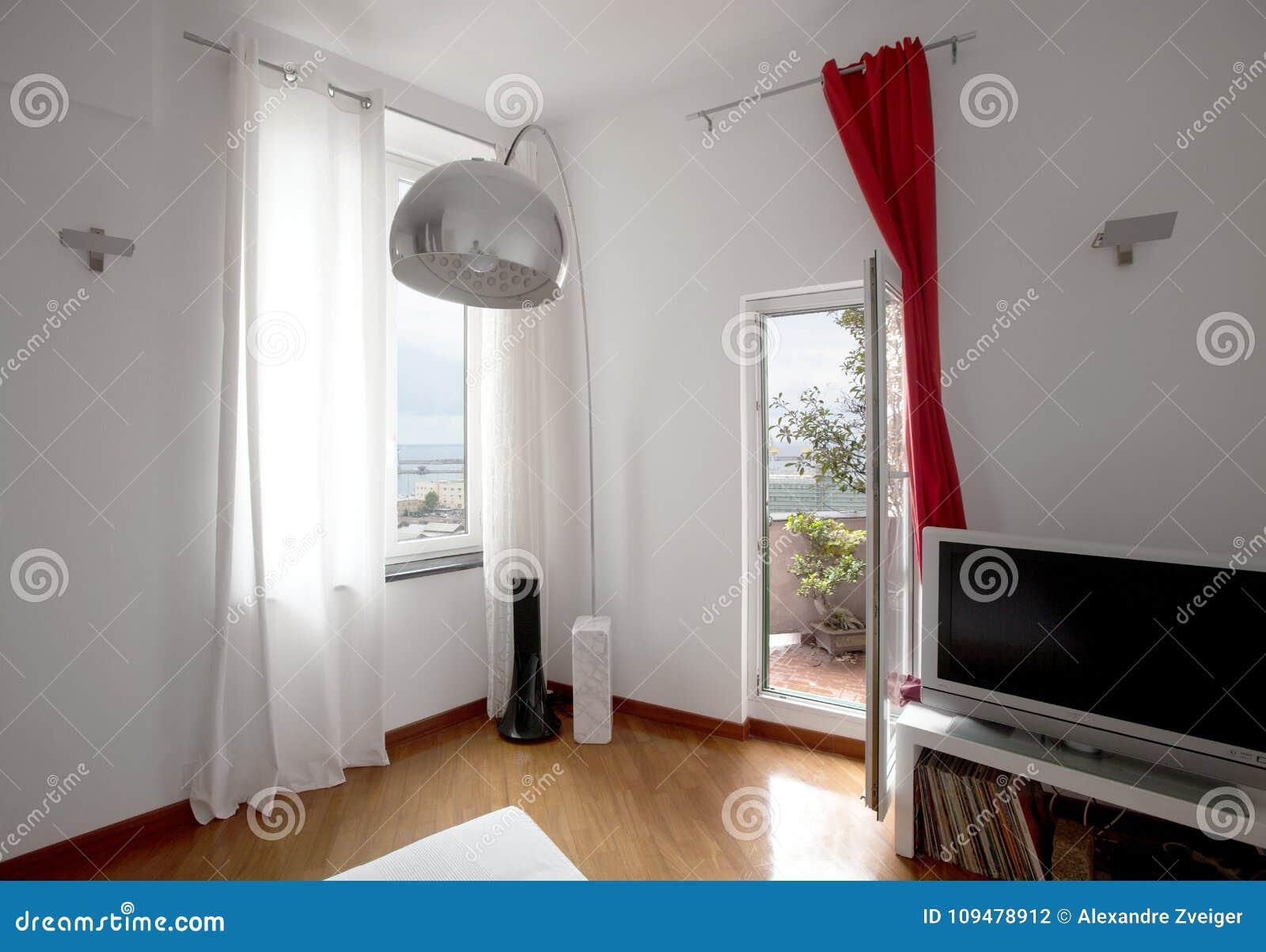 Appartamento Interno, Camera Da Letto Con Letto Singolo ...