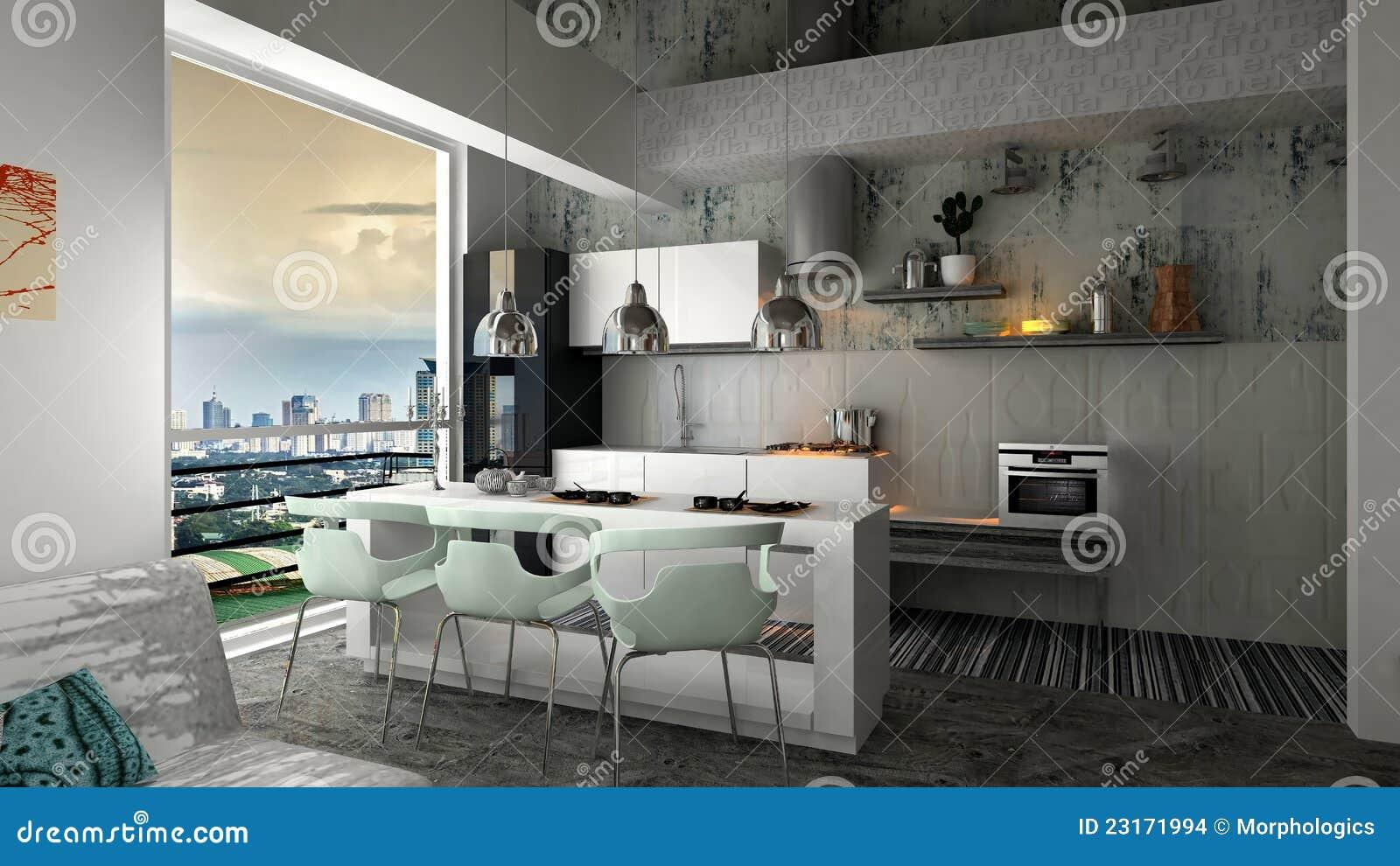 Appartamento interno moderno illustrazione di stock for Pavimento interno moderno