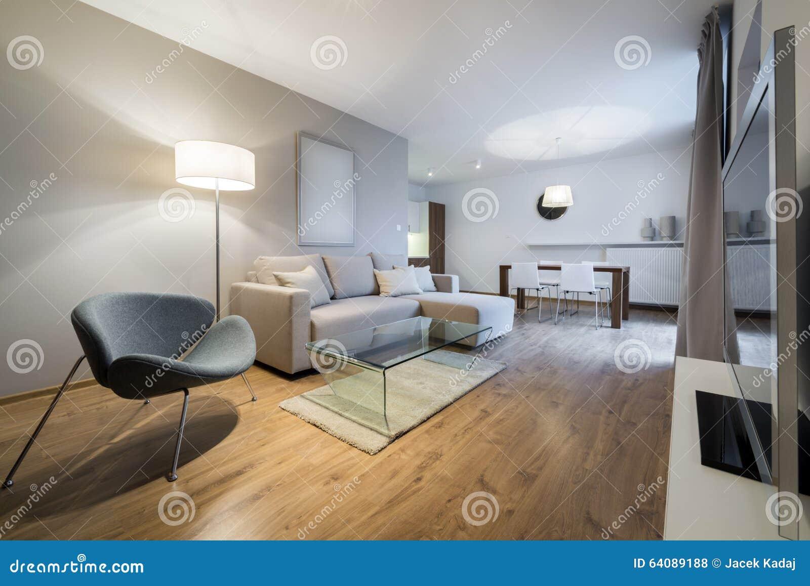 Appartamento moderno di interior design fotografia stock for Appartamento interior design