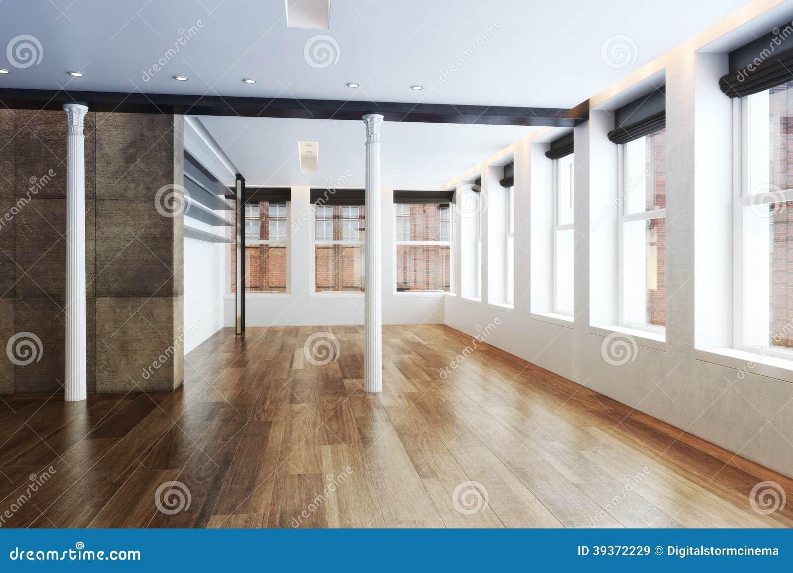 Appartamento in un grattacielo vuoto con l 39 interno di for Pilier moderne