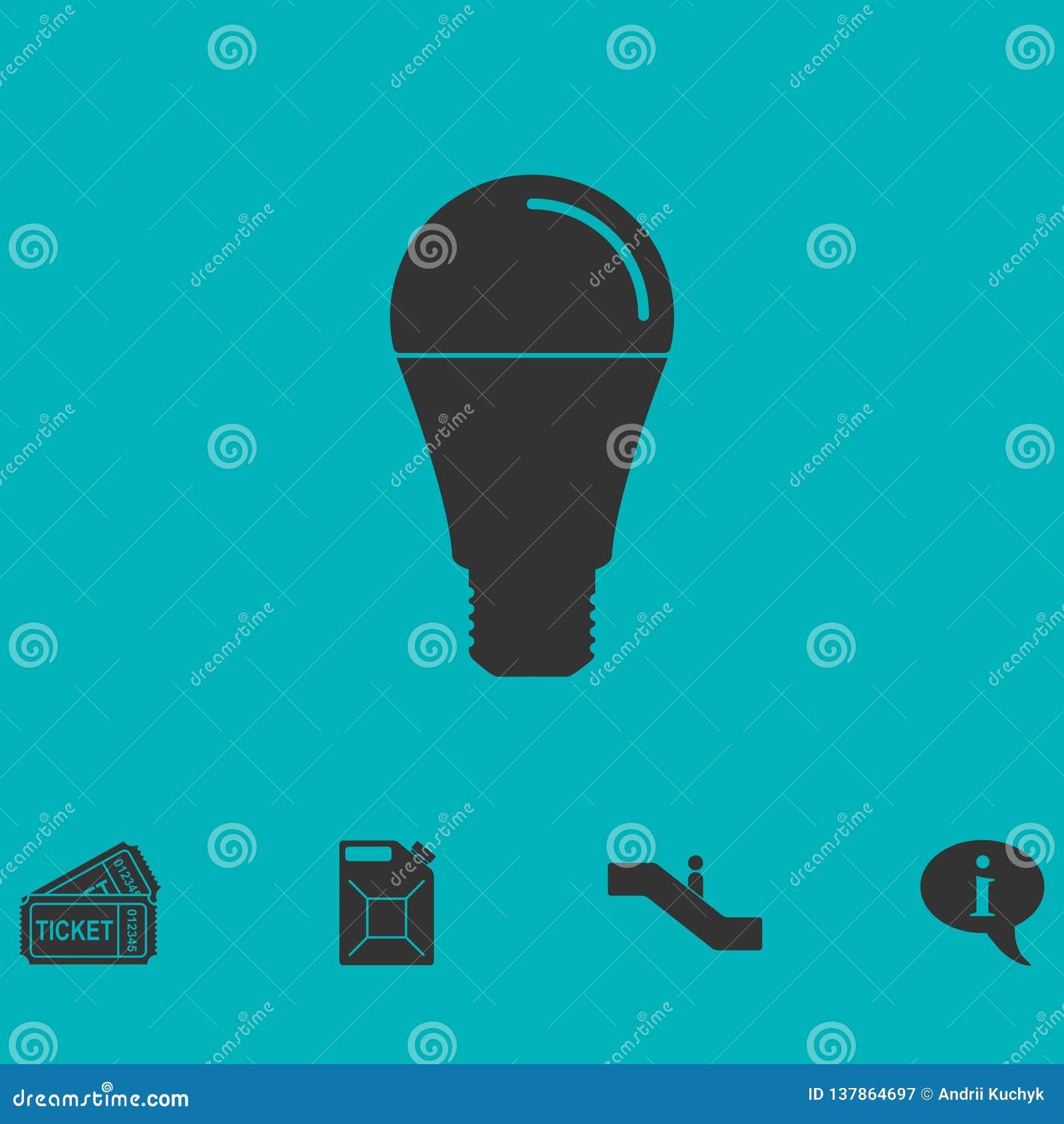 Appartement d icône d ampoule