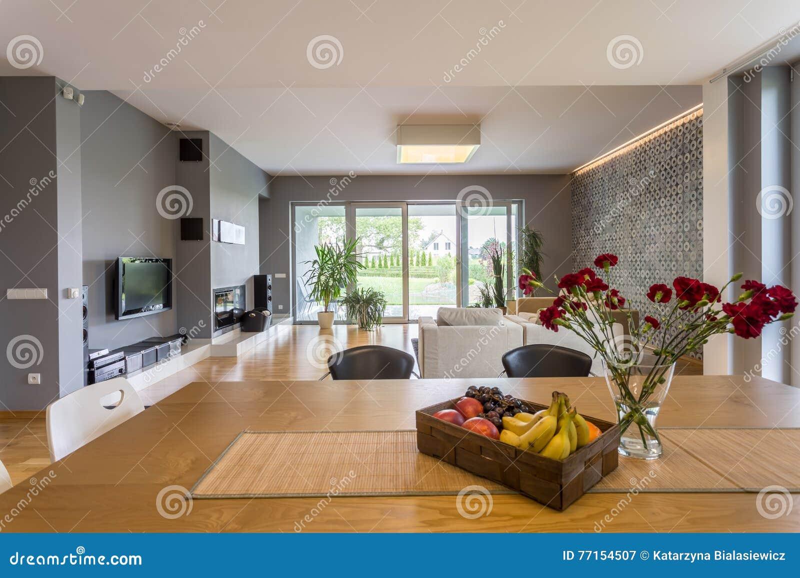 Appartement de l espace ouvert