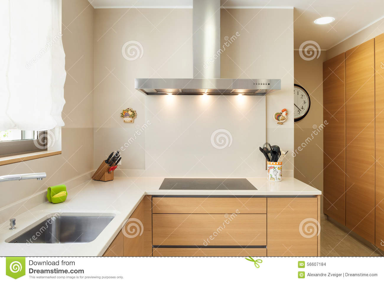 Appartement Meublé, Cuisine Moderne Photo stock - Image du ...