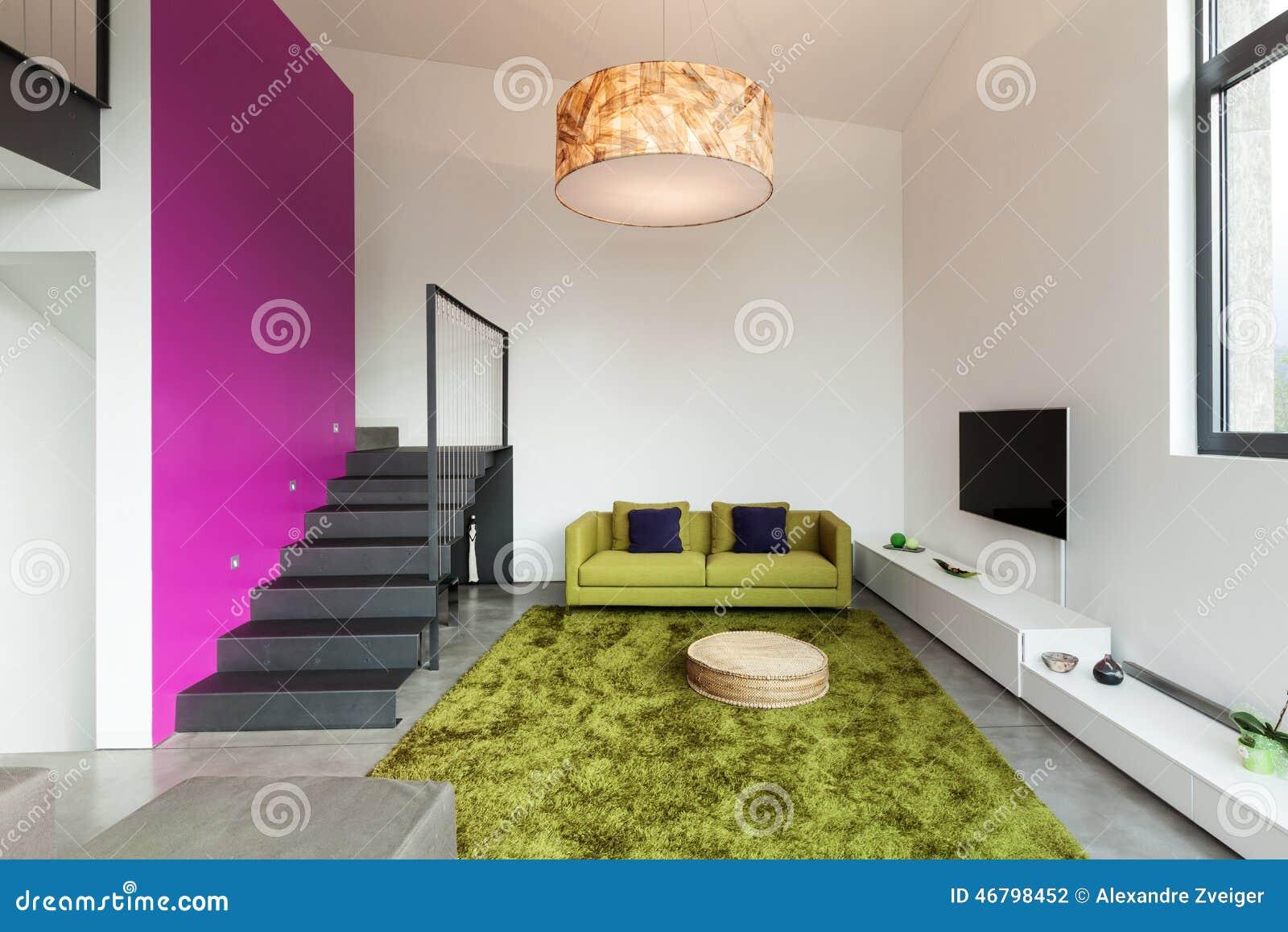 Appartement meublé, vue de salon