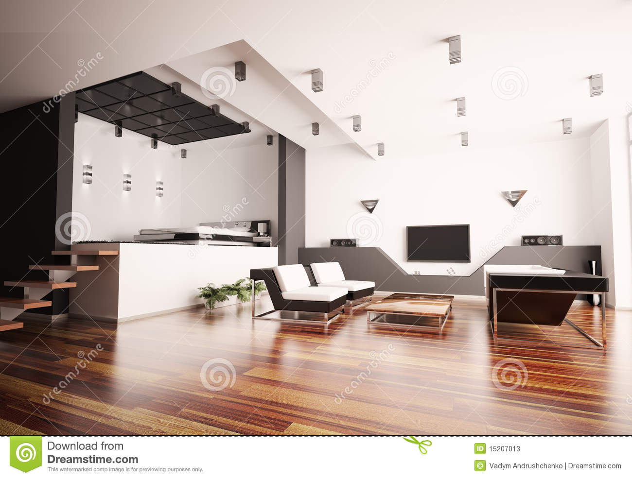 Appartement moderne 3d int rieur - Interieur appartement moderne ...