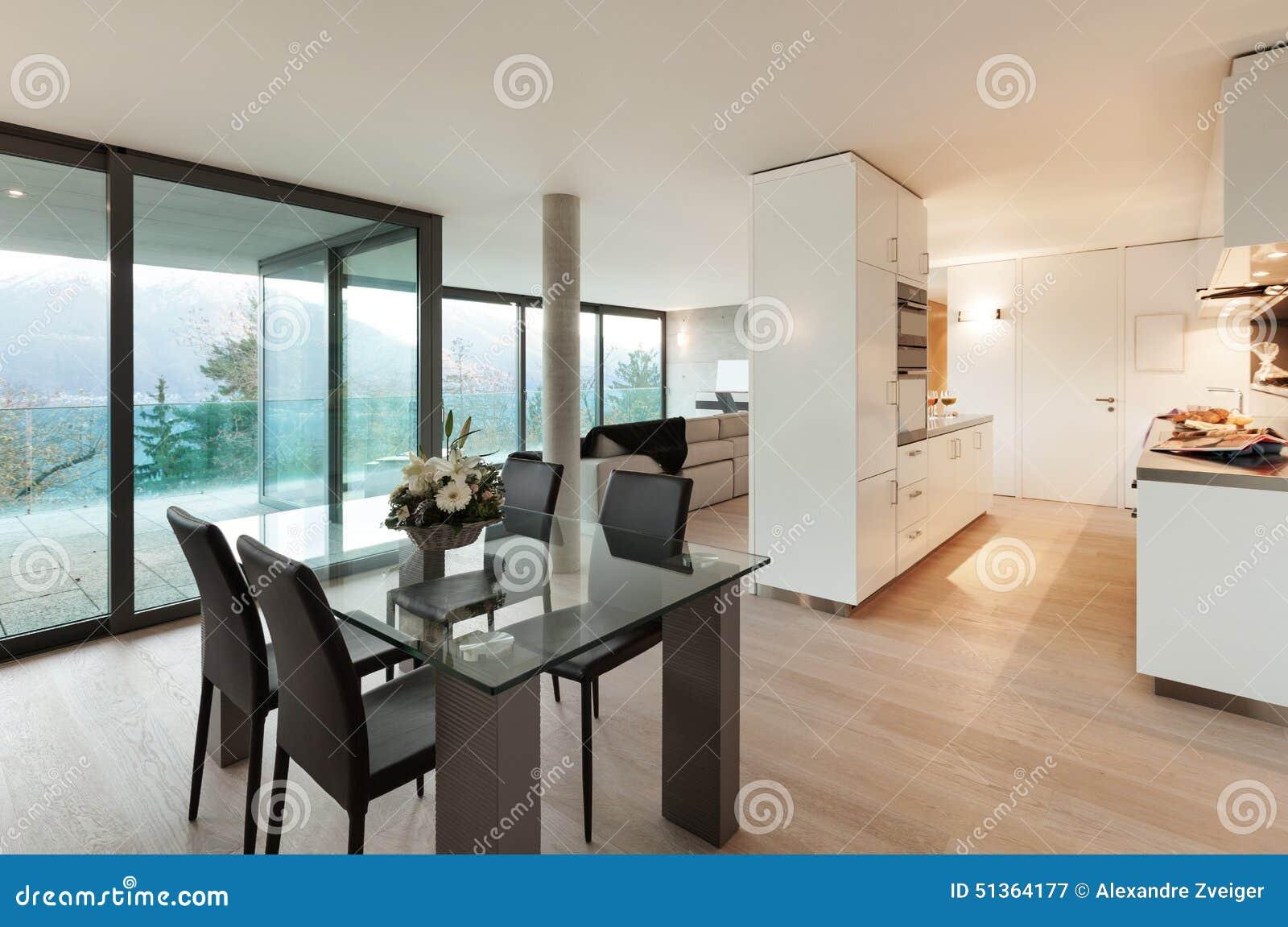 appartement moderne int rieur photo stock image 51364177. Black Bedroom Furniture Sets. Home Design Ideas