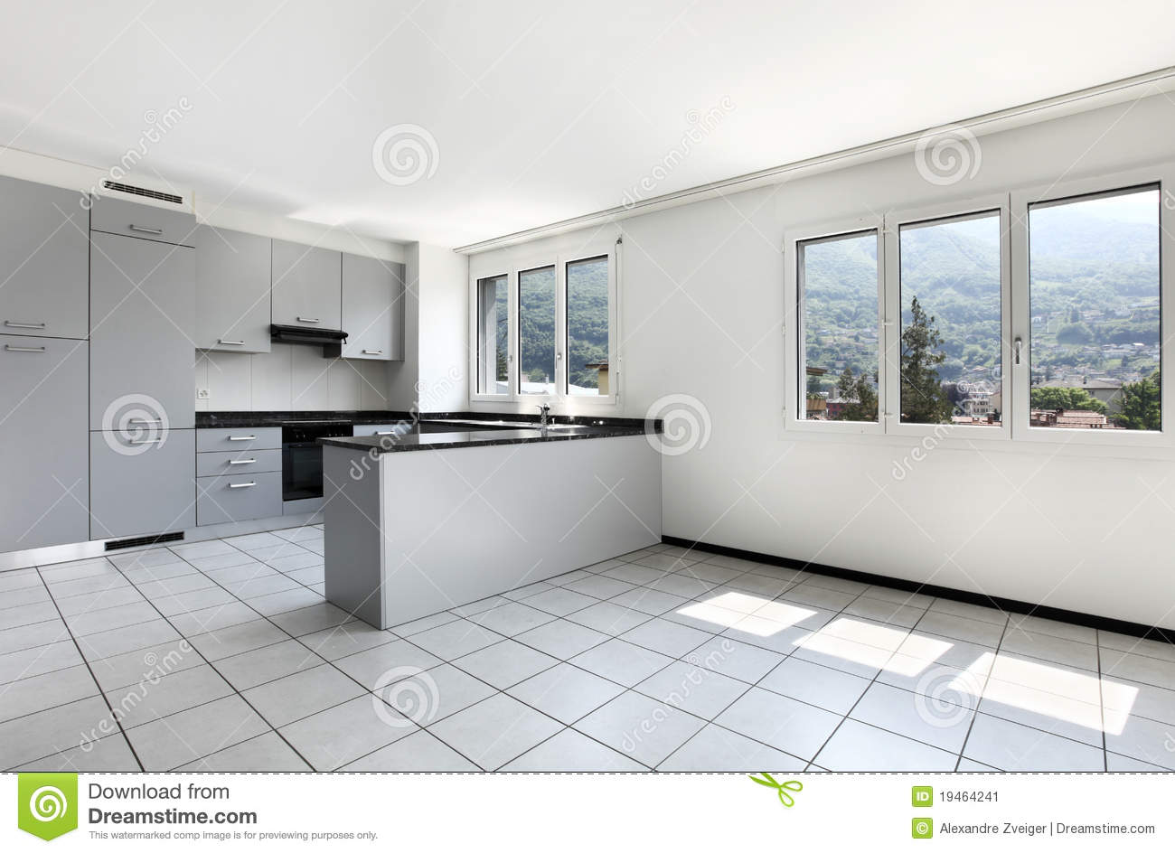 Appartement neuf cuisine vide image stock image 19464241 for Neuf appartement