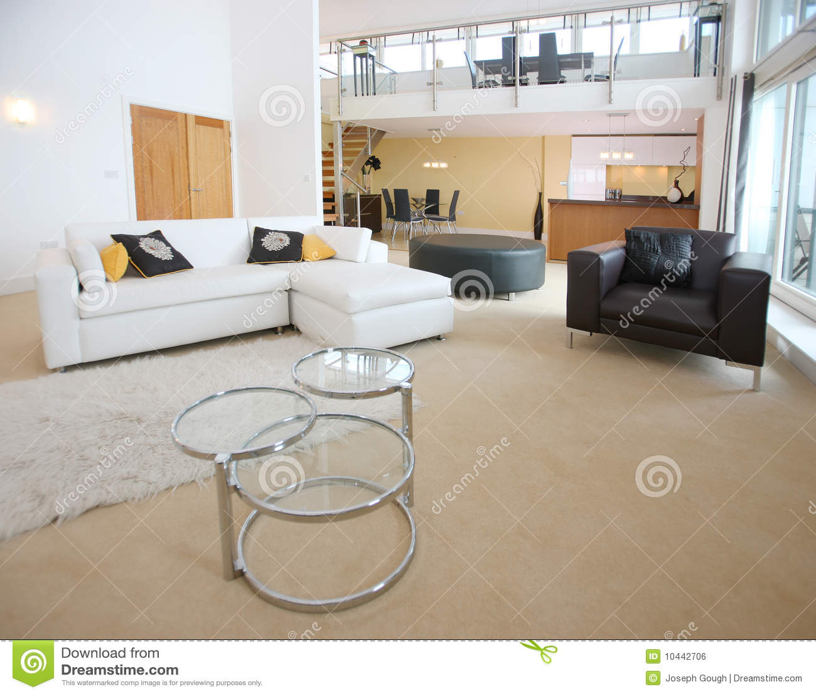 appartement ouvert moderne de plan