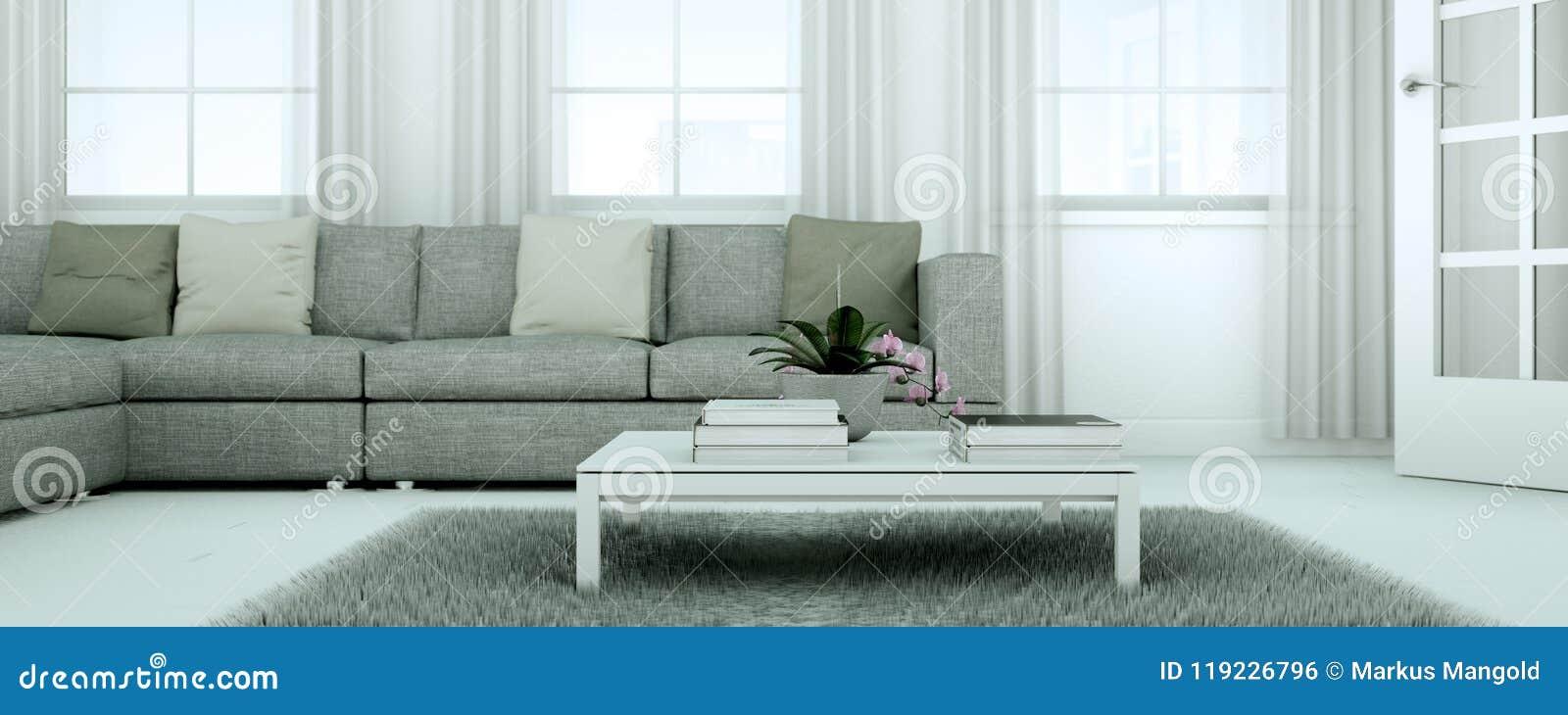 Appartement skandinavian lumineux moderne de conception intérieure