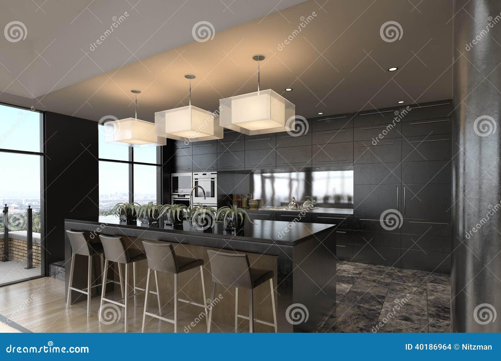 Appartement Terrasse Moderne Illustration Stock Image