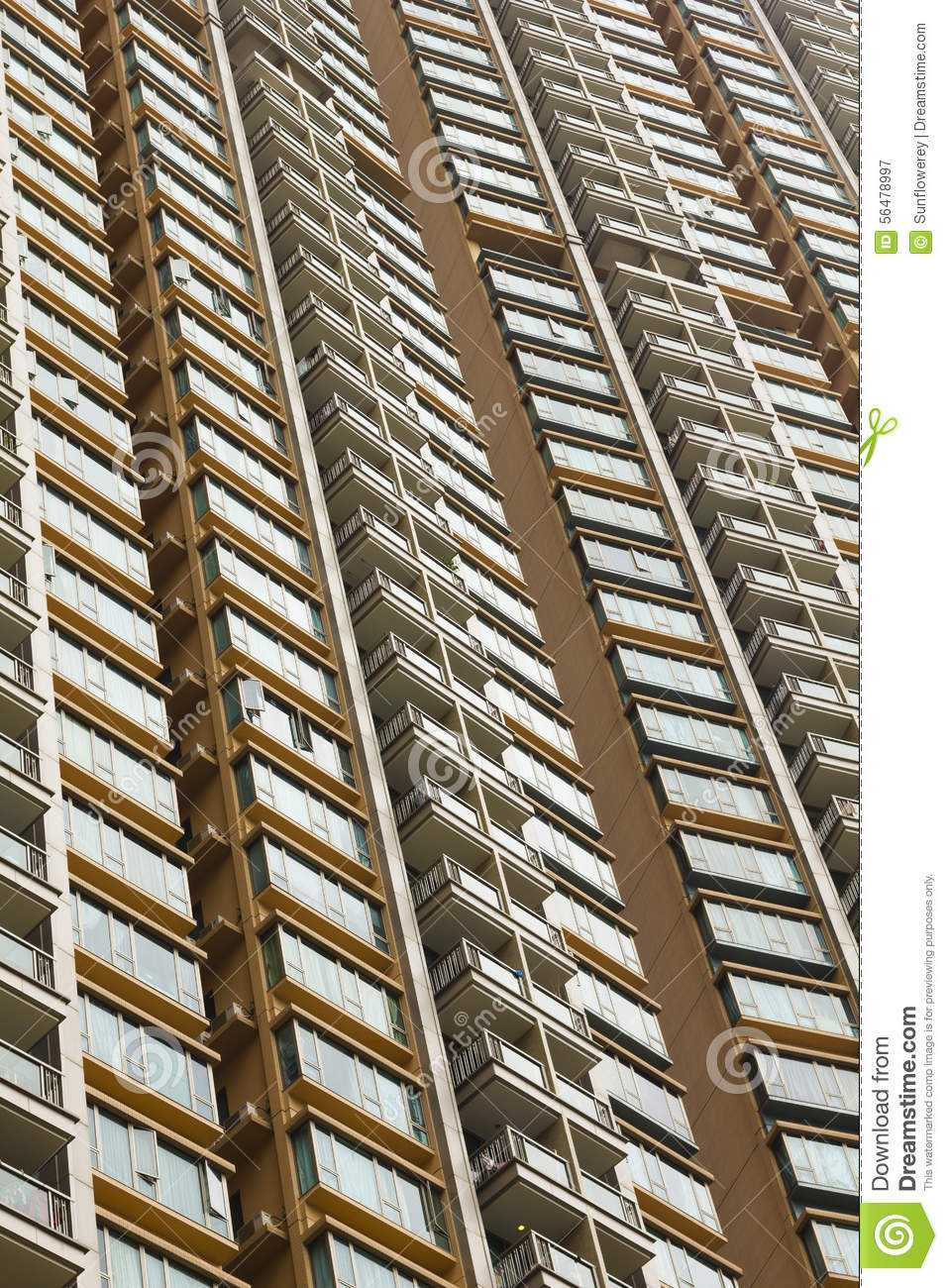 Appartements modernes de ville en Hong Kong