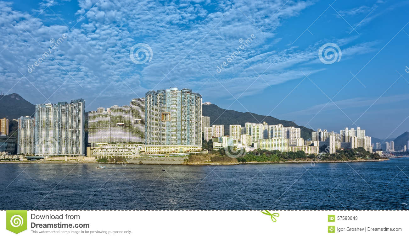 Hong Kong Aberdeen Royalty Free Stock Image Cartoondealer Com 56383786