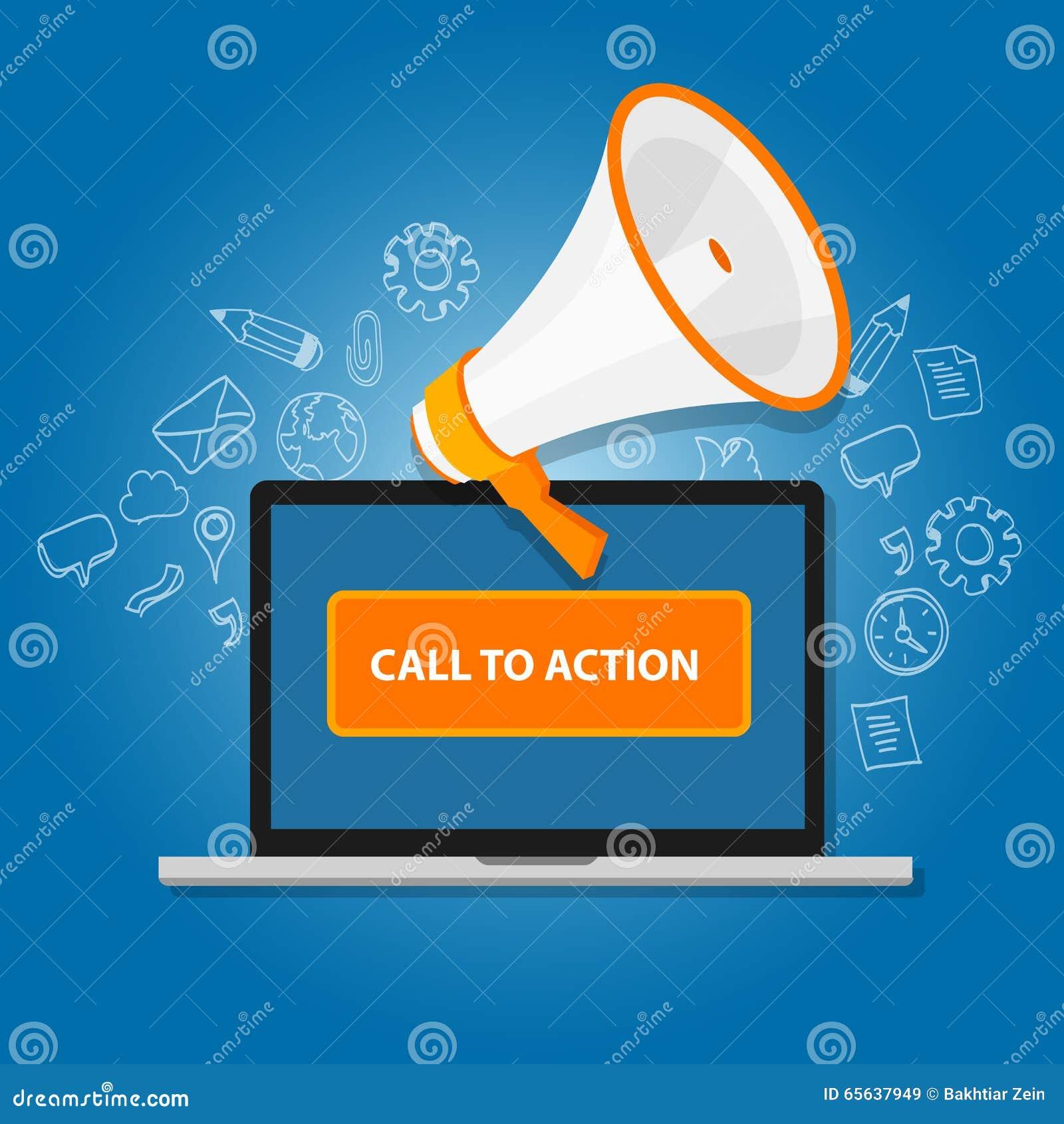 Appel au bouton d action lançant la page sur le marché en ligne de conception