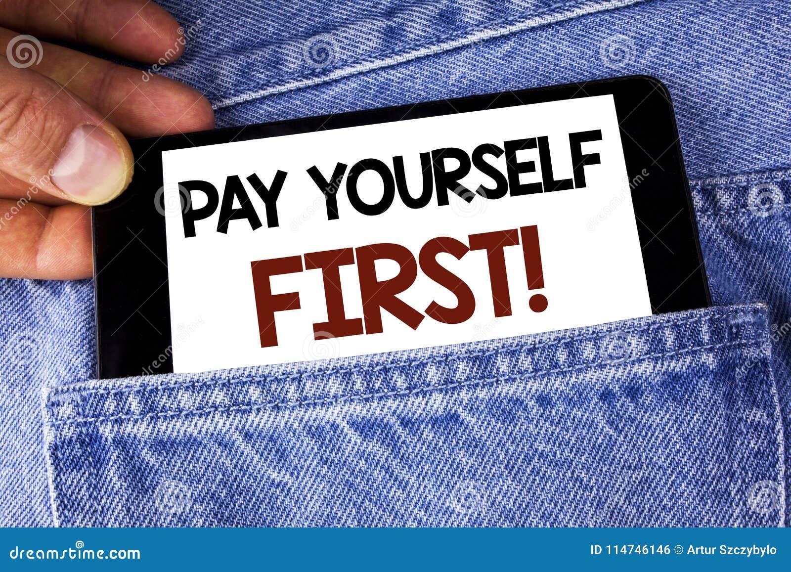 Appel de motivation conceptuel du salaire d apparence d écriture de main vous-même d abord Les finances personnelles des textes d