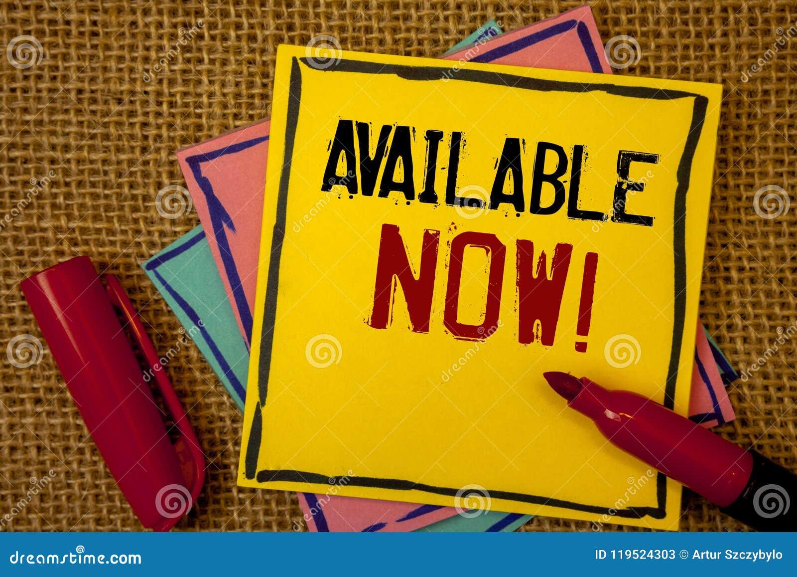 Appel de motivation disponible des textes d écriture maintenant Disponibilité des produits de service de promotion de significati