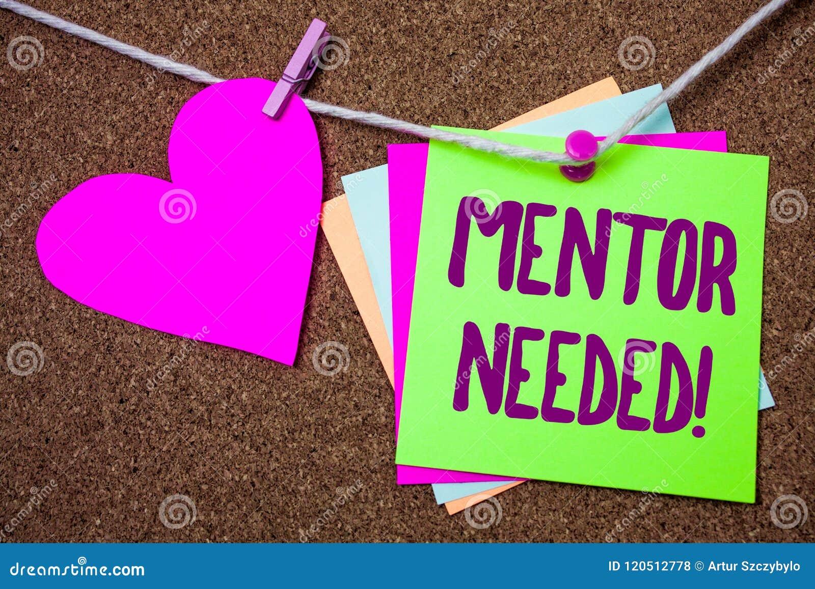 Appel de motivation nécessaire de mentor des textes d écriture de Word Le concept d affaires pour la formation de soutien de cons