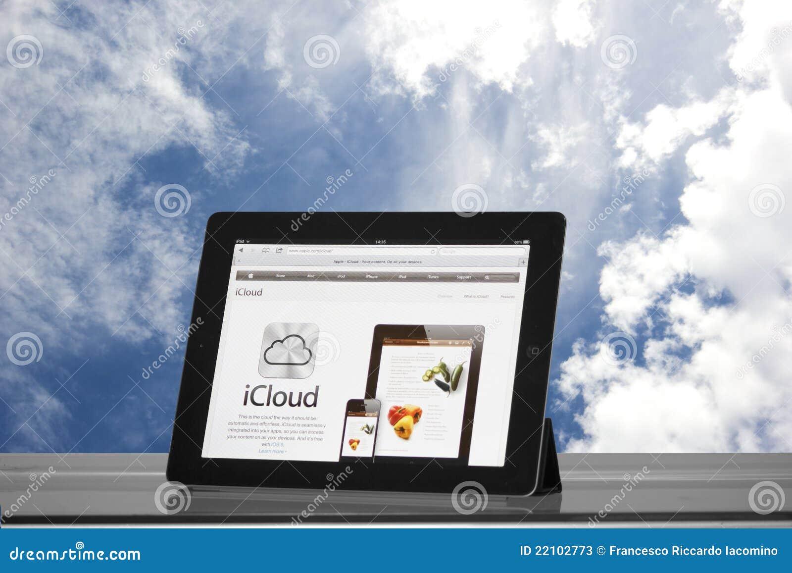 Appel iPad 2 in de wolken