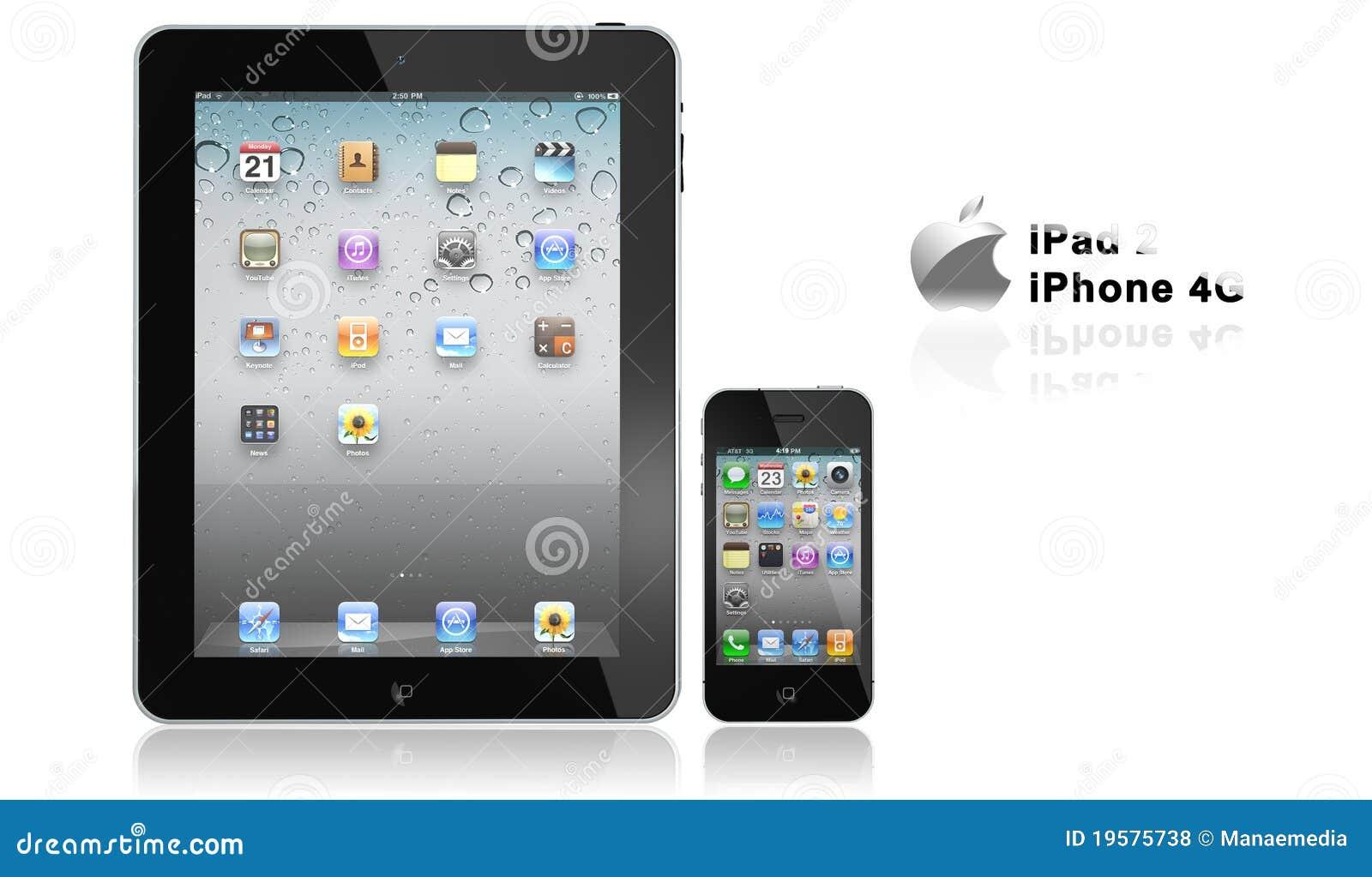 Appel iPad 2 en iphone 4G
