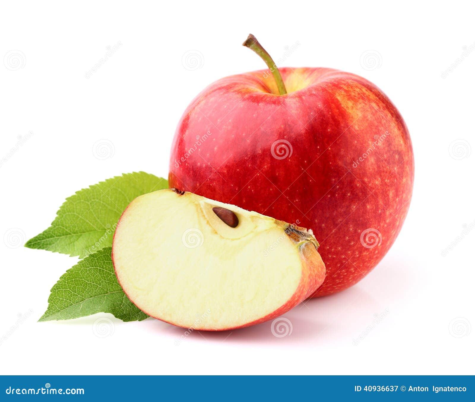 Appel met bladeren