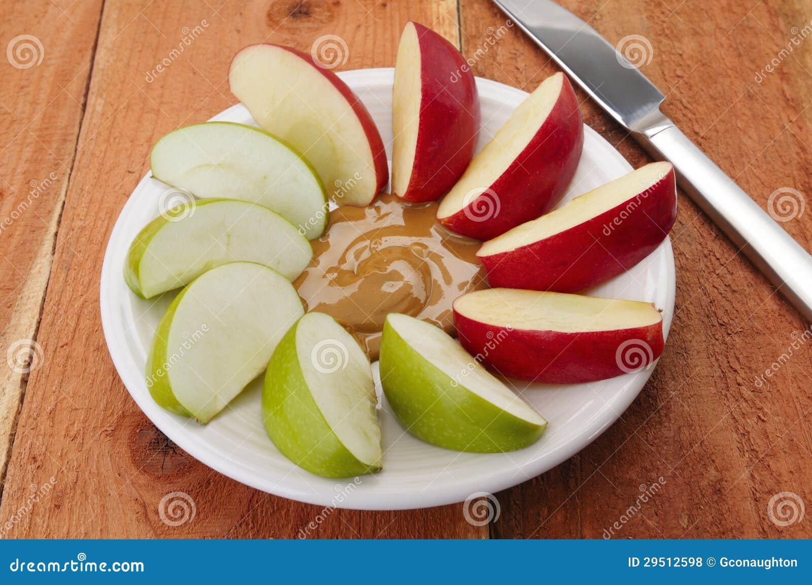 Appelen en pindakaas