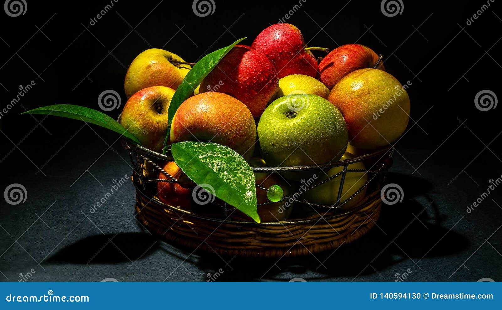 Appelen met gebladerte