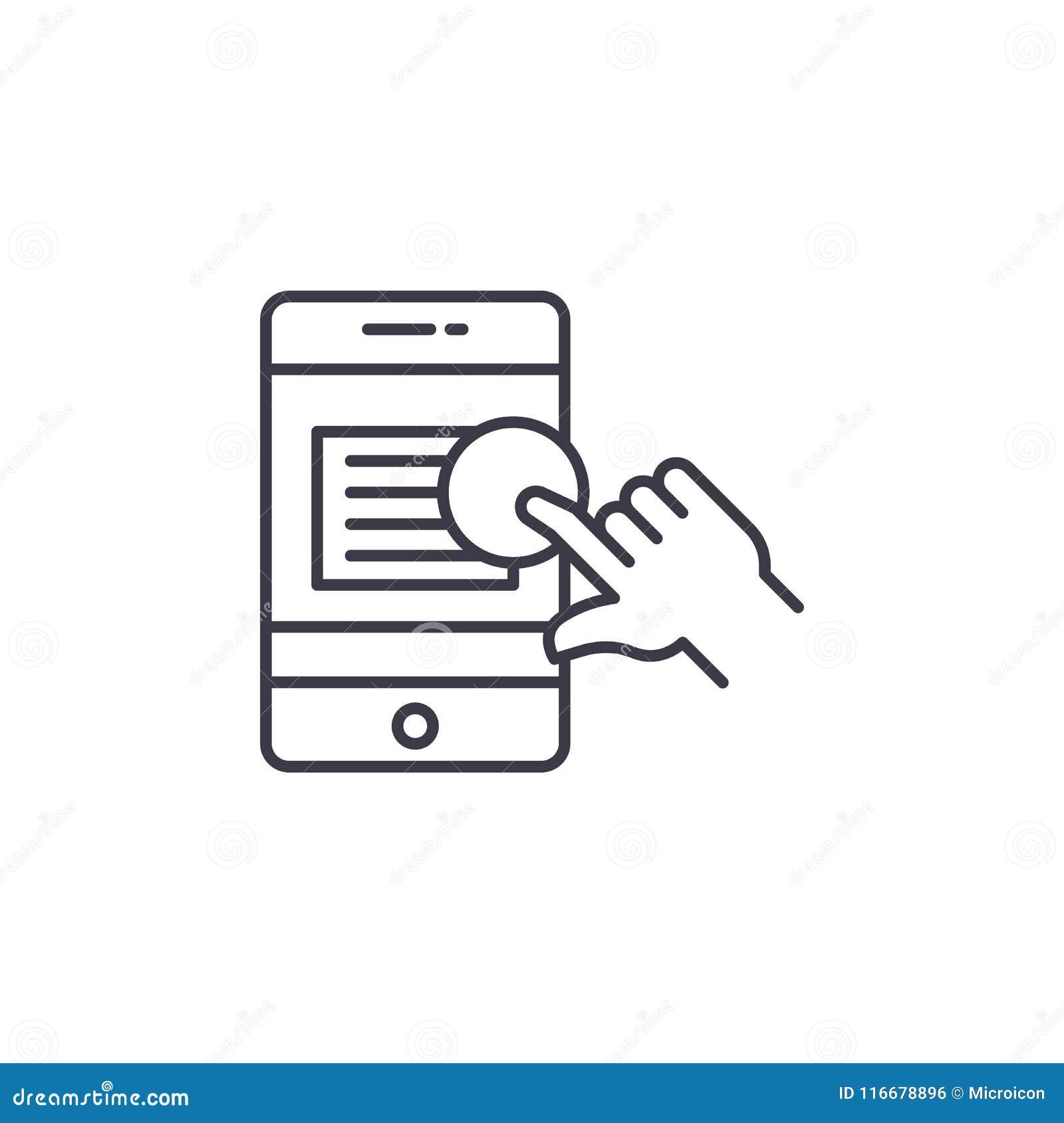 Appell till det linjära symbolsbegreppet för handling Appell till handlinglinjen vektortecken, symbol, illustration