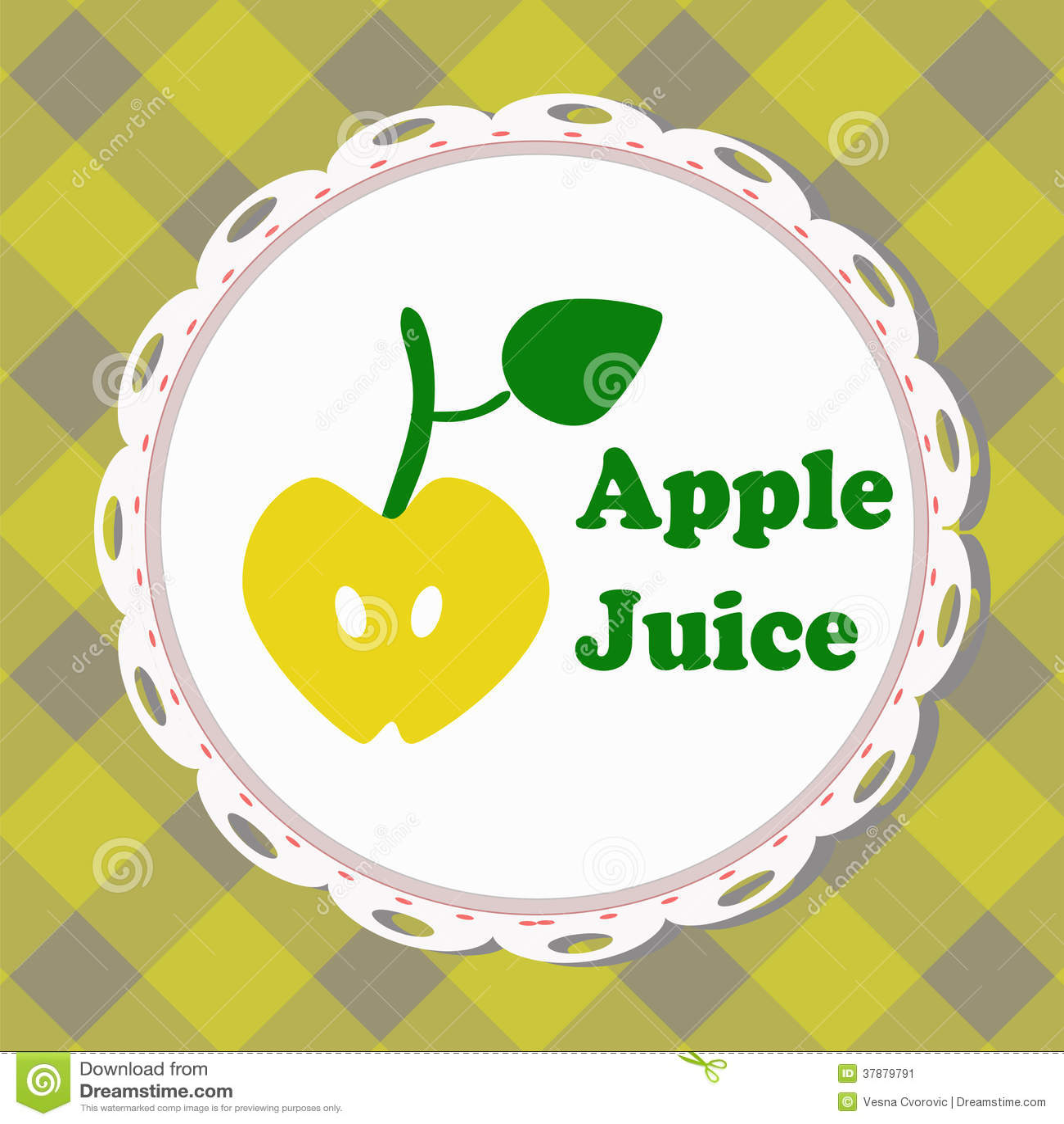 Appelsap, geïllustreerd etiket