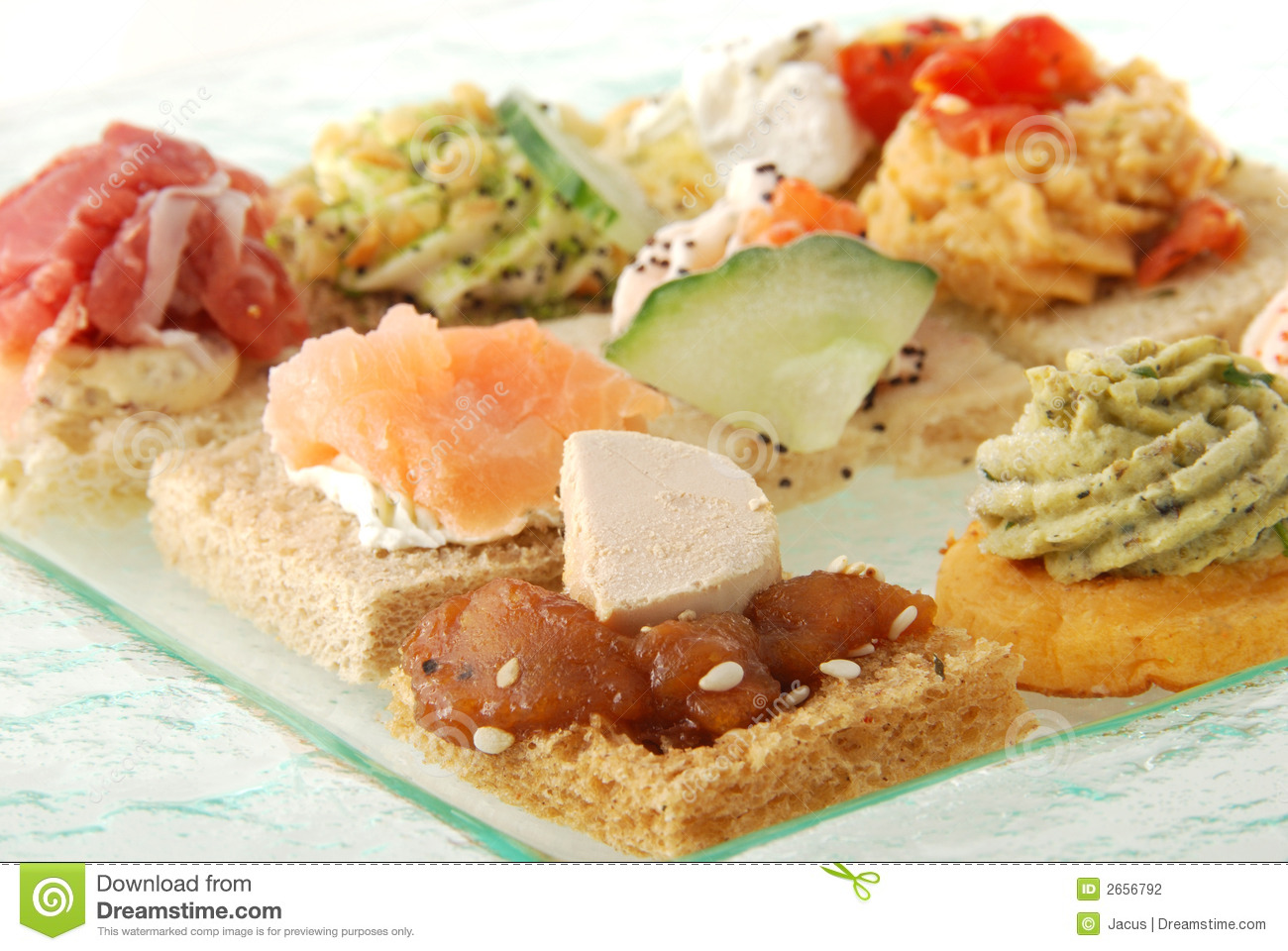 Appetizer canape stock photography image 2656792 for Appetizer canape
