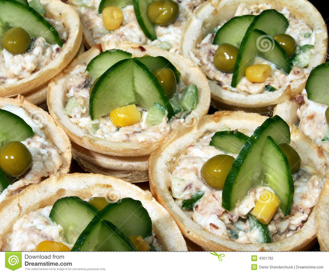 Appetizer canape stock photo image of baked meal fresh for What is a canape appetizer