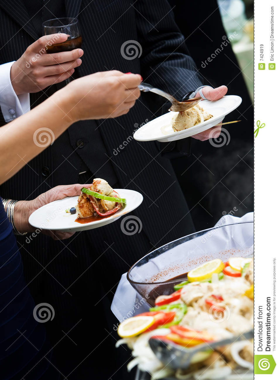 Appetizer during a catered party or event