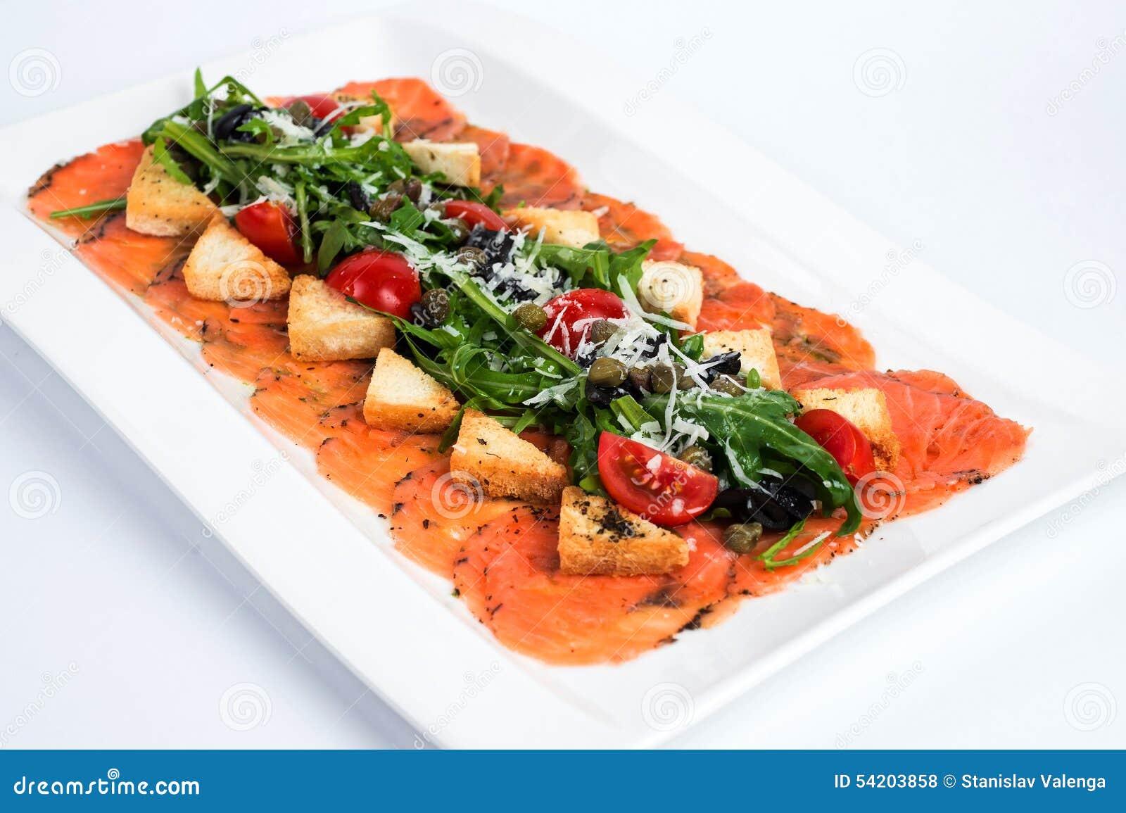 Salmon Carpaccio — Stock Photo © ryzhkov86 #30750647