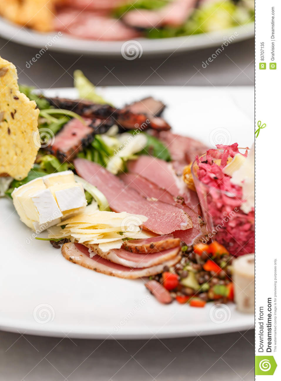 Appetizer Served On A Plate Stock Photo