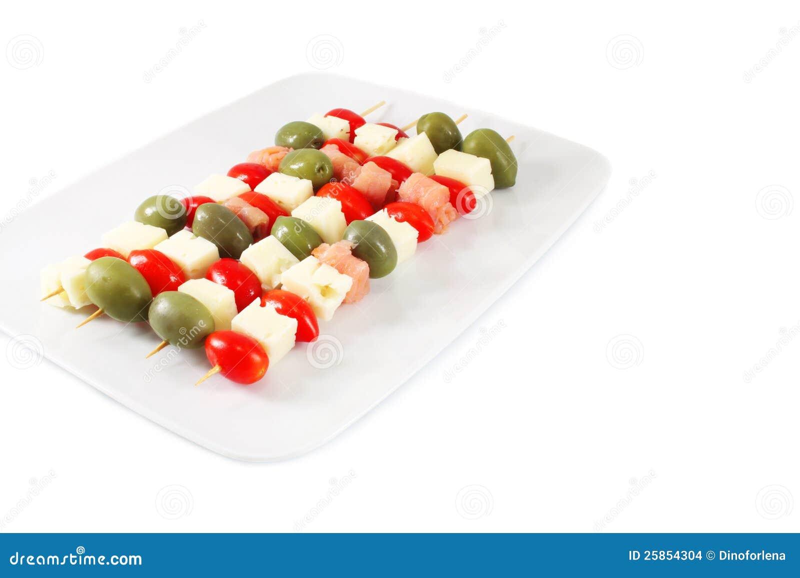 Appetizer on skewers