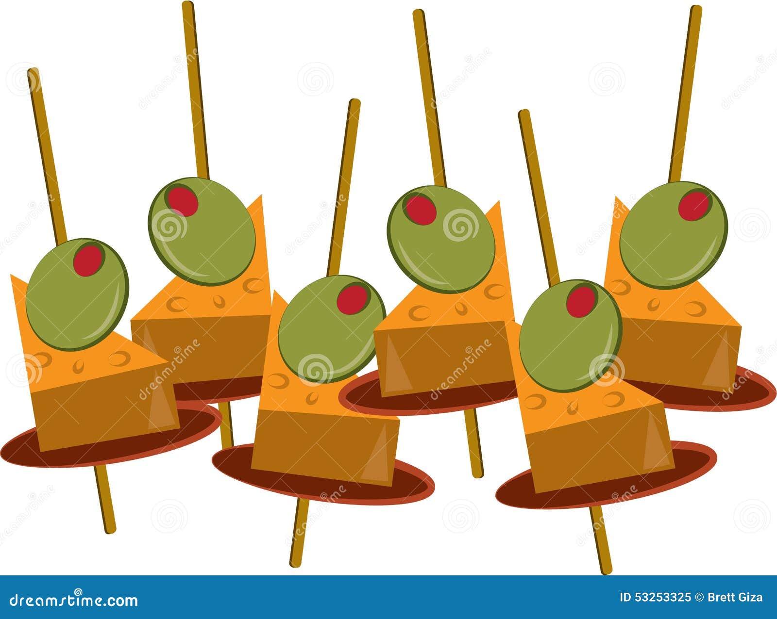 Appetizer Snack Stock Vector - Image: 53253325