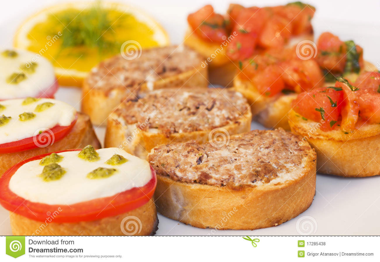 Appetizers royalty free stock photos image 17285438