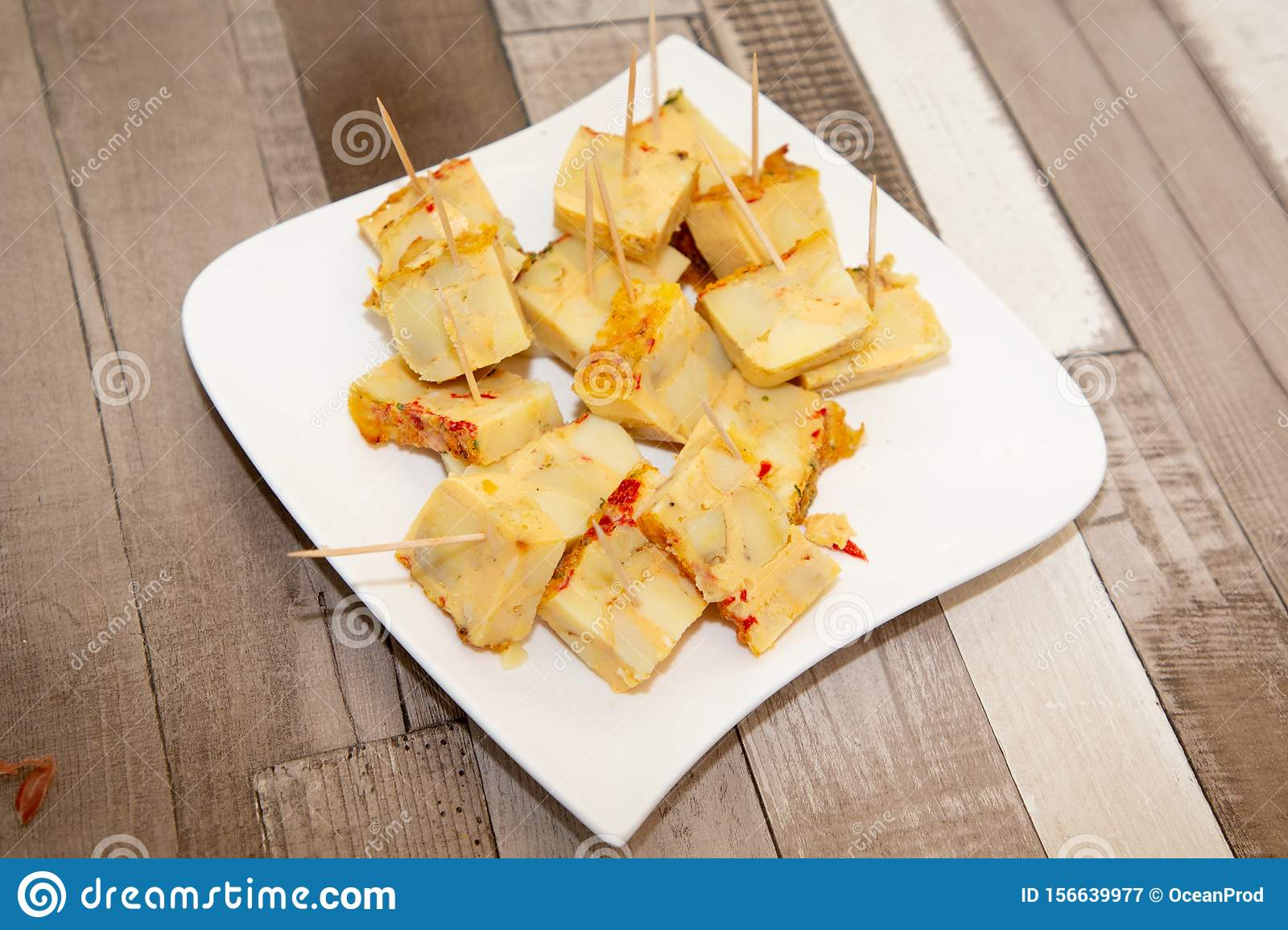 Appetizers For Festive Events Unique Occasions Finger Food In Wood Table Stock Image Image Of Canape Delicious 156639977