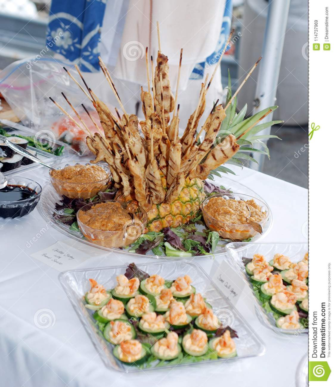 Appetizers at a wedding. stock image. Image of happy - 114737969
