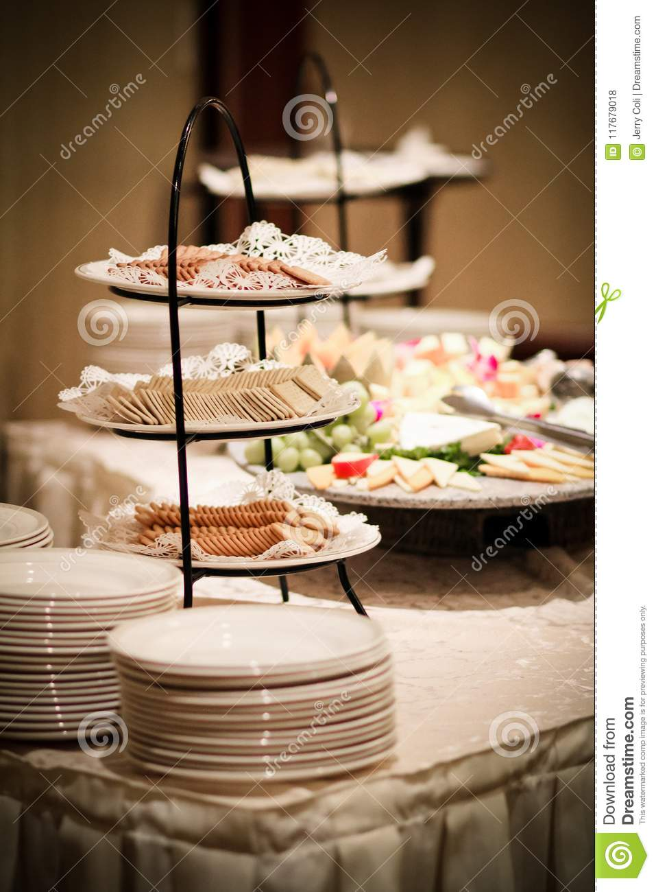 Appetizers At A Wedding Reception Stock Photo Image Of Grapes