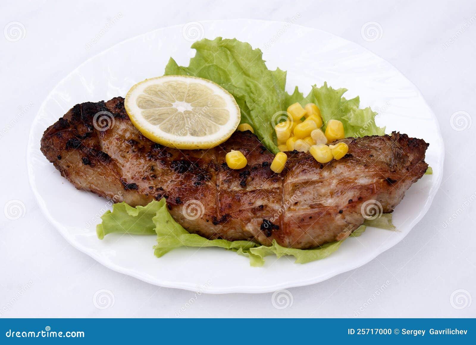 Appetizing juicy fried meat